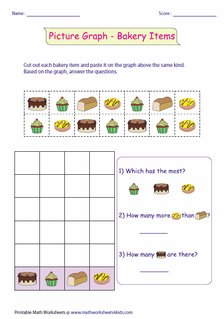 Worksheets Picture Graph Worksheets pictograph worksheets