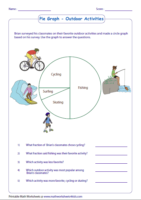 Printables Circle Graphs Worksheets pie graph worksheets interpreting data basic fraction
