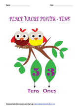 Place Value Charts | Tens