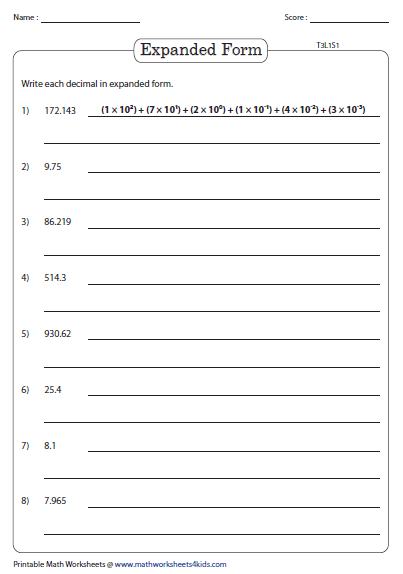 Place Value Expanded Form Worksheets 2nd Grade Popular Place 2017