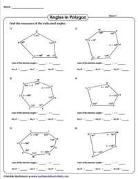 Find the Indicated Interior Angles | Algebra in Polygons