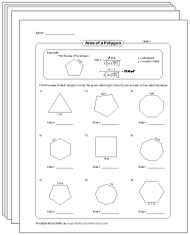 Area of Polygons Worksheets