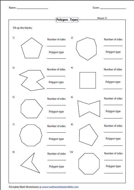 Polygon worksheets name the type of polygon ccuart Choice Image