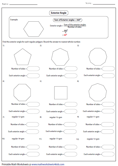 Polygons Worksheet Free Worksheets Library Download And