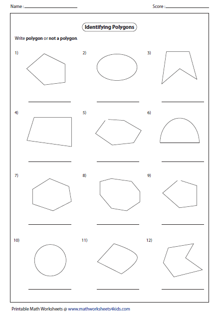 Printables Polygons Worksheet polygon worksheets