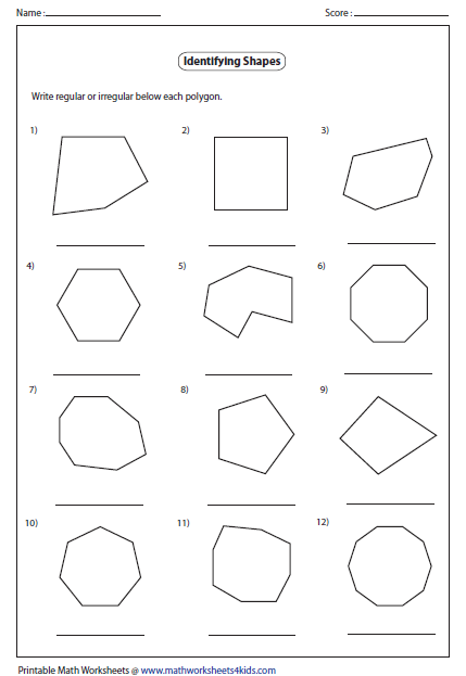 Identify Regular or Irregular Polygon