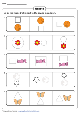 Coloring Shapes Next to Objects