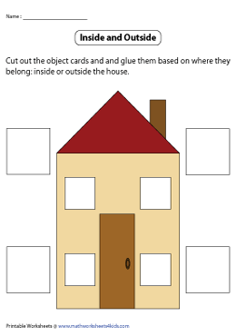 Cut and Glue Objects Inside and Outside the House