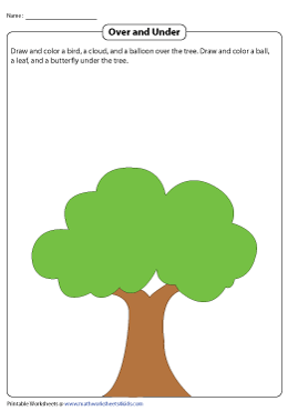 Draw Objects Over and Under the Tree