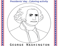 Color the President - George Washington