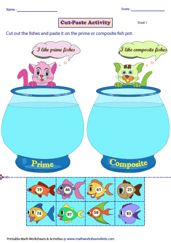 Prime and Composite Numbers Worksheets