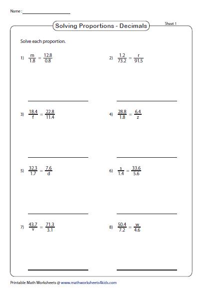 Algebra 1 Worksheets | Equations Worksheets