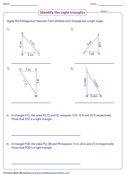 pythagorean theorem worksheets. Black Bedroom Furniture Sets. Home Design Ideas
