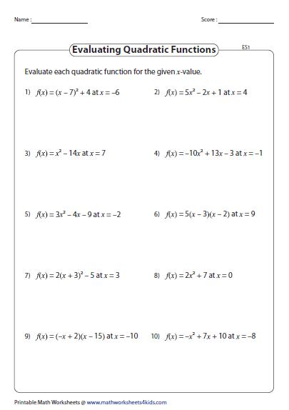 Algebra 1 solve for X Worksheets | Homeshealth.info