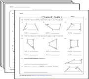 Angles in Trapezoids Worksheets