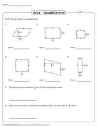 Area of a Quadrilateral | Fractions