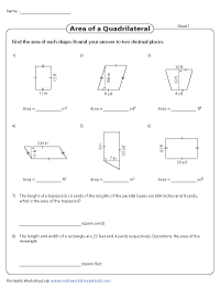 Area of a Quadrilateral | Unit conversion
