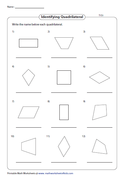 Quadrilateral Worksheets - Tecnologialinstante