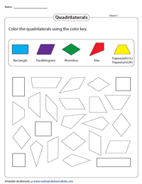Identifying Quadrilaterals | Worksheets and Activities