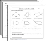 Perimeter of Trapezoids Worksheets
