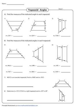Find the Indicated Angles | Midsegments
