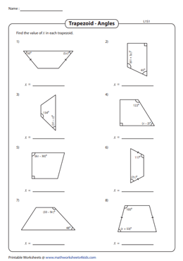 Find the Angles in the Trapezoid | Solve for 'x' - Level 1