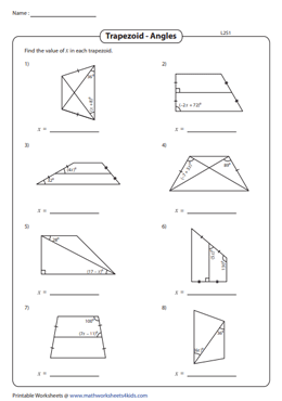 Find the Angles in the Trapezoid | Solve for 'x' - Level 2