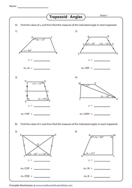 Find the Indicated Angles | Revision Worksheet