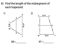 Length of the midsegment (median)