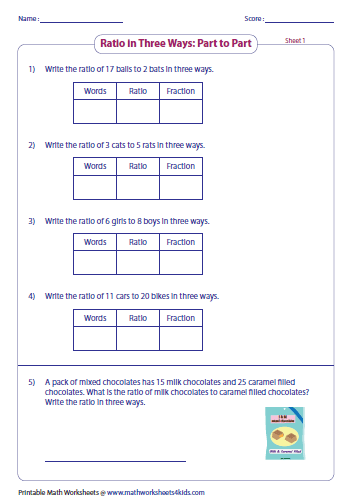 math worksheet : ratio worksheets : Math Ratios Worksheets