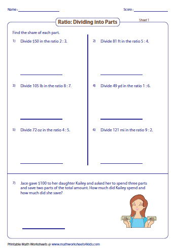 Division Worksheets division worksheets sixth grade : Ratio Worksheets