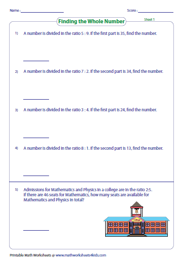 simplifying ratios worksheet