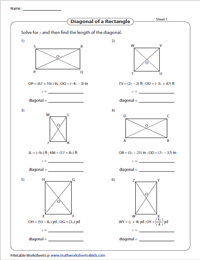Finding length of the diagonal