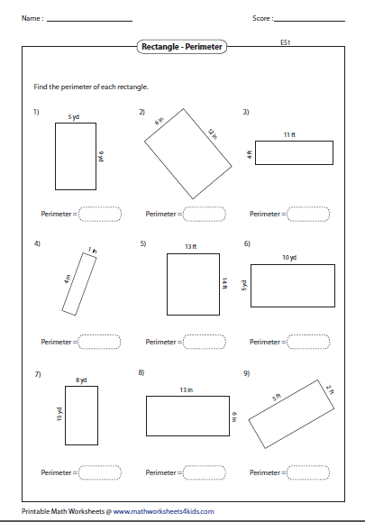 rectangle worksheets. Black Bedroom Furniture Sets. Home Design Ideas