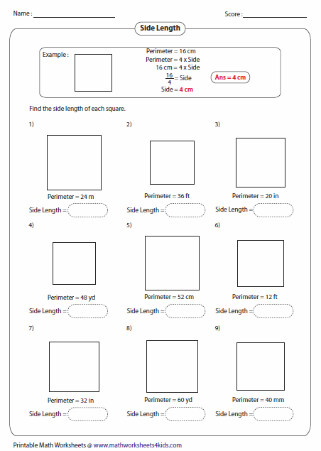 Area And Perimeter Of Rectangles Worksheet Free Worksheets Library ...