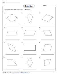Identifying a Rhombus | Without Dimensions