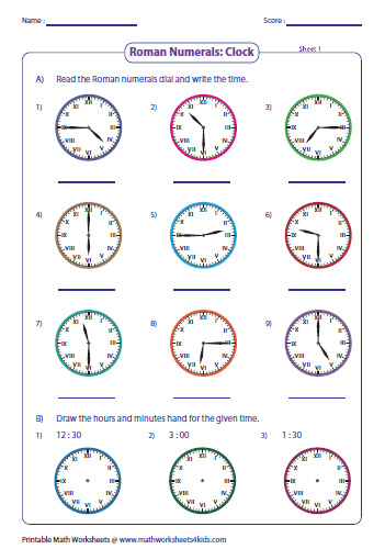 Roman numerals worksheets ibookread
