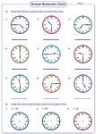 Roman Clock: Arabic and Roman Numerals