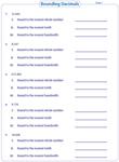 math worksheet : rounding decimals worksheets : Rounding Decimals Worksheet 5th Grade