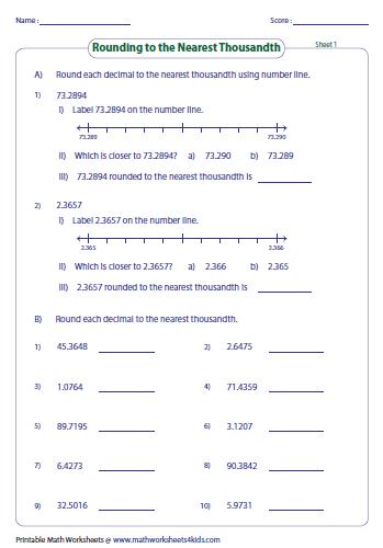 math worksheet : rounding decimals worksheets : Rounding To The Nearest Thousand Worksheet