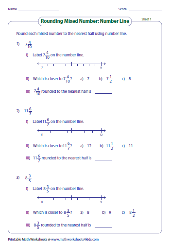 rounding mixed decimals to the nearest This is the first set of rounding worksheets that involve decimal numbers the first of these worksheets require rounding to the nearest tenth and looking at the.