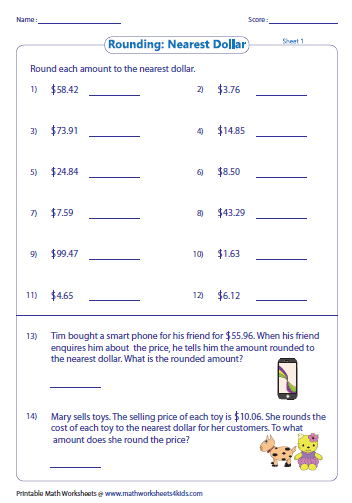 Worksheets Rounding Money Worksheets rounding and estimating money worksheets