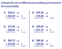 Estimating Money: Sum and Difference