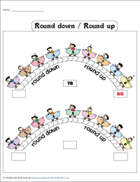 Round up and Round down Chart
