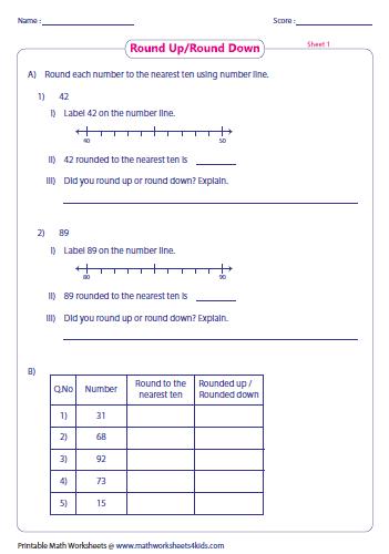math worksheet : rounding worksheets : Math Rounding Worksheet