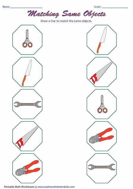 Preschool Worksheets Matching Similars : Same and different worksheets preschool matching similars