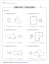 Scale Factor Worksheets | Scale Factor of Similar Figures