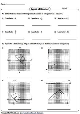 dilation with center at origin dilation worksheets. Black Bedroom Furniture Sets. Home Design Ideas
