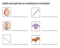 Identify the conductors and insulators