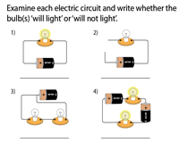 Identify open and closed circuits